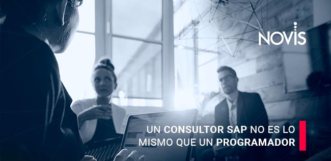 Un Consultor SAP no es lo mismo que un programador