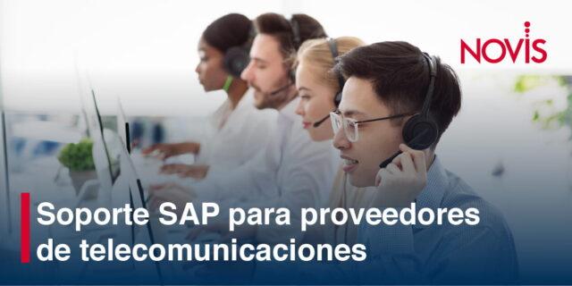 Soporte SAP, la mejor opción para los proveedores de telecomunicaciones